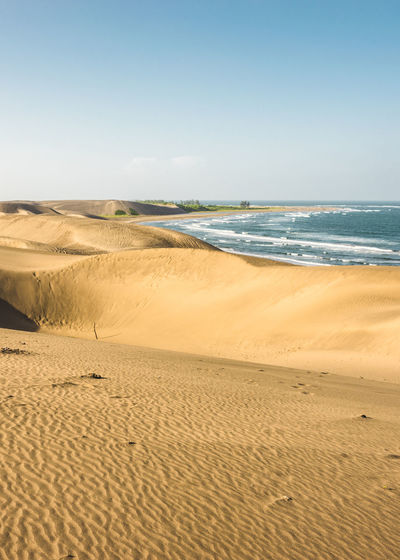 Arid Climate Beach Beauty In Nature Beauty In Nature Clear Sky Day Desert Desert Beauty Dunes Dunescape Landscape Landscape_Collection Nature Nature_collection Non-urban Scene Sand Sand Dune Scenics Sea Sky Sunlight Tranquil Scene Tranquility Travel Photography Water