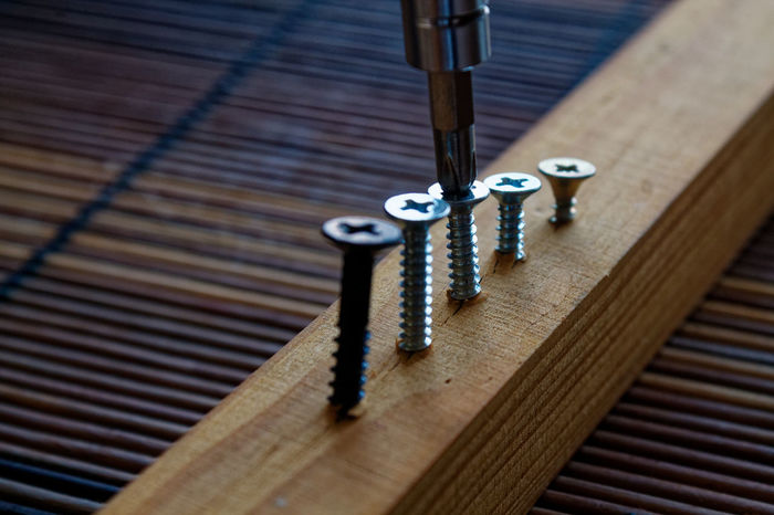 Business Screwed Screws Studio Working Background Close-up Day Full Frame High Angle View Indoors  Key Key Ring Metal No People Screw Screwdriver Stainless Steel  Steel Table Tools Wallpaper Wood - Material Work Shop Work Tool
