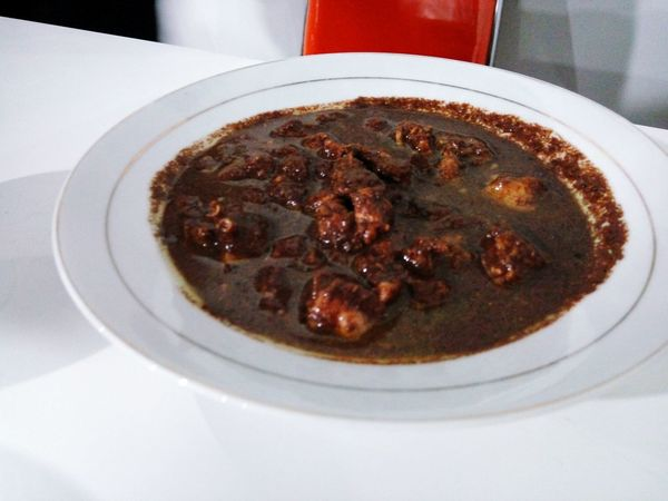 Saksang (Dog Meat) mixing with the blood. Traditional food from North Sumatra, Indonesia Food Food And Drink Meat Soup Indoors  Meal Visual Feast Travel Destinations INDONESIA Tradition