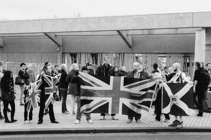 Britain Edinburgh HollyroodHouse Politics Referendum Referendum2014 Saltire Scotland Scottish Refferendum Union Jack United Kingdom Yes Campaign
