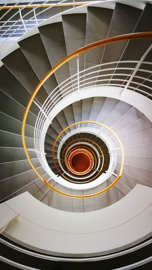 Staircase to Hell 666 Spiral Staircase Steps And Staircases Spiral Steps Spiral Stairs High Angle View Staircase Railing Architecture Office Building Geometric Shape Swirl Hand Rail Concentric Circle Design Circular Continuity Urban Scene