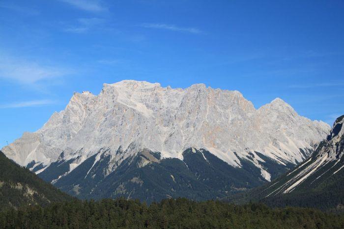 Zugspitze Alpen Alpes Mountain Zugspitzblick Zugspitze Sky Mountain Scenics - Nature Beauty In Nature Tranquil Scene Tranquility Mountain Range Day Idyllic Blue