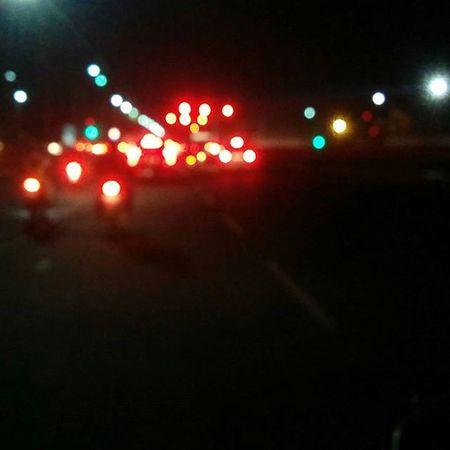 Traffic Lights Night Pune Hinjewadi Nofilter