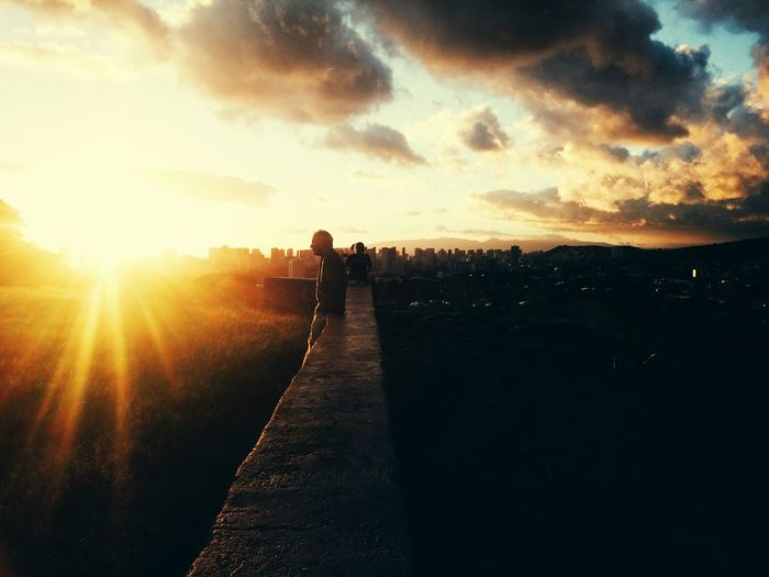 Candid Hawaiian sunset Sky Outdoors Sunset Landscape Nature People Cloud - Sky Day Candid Photography Adult