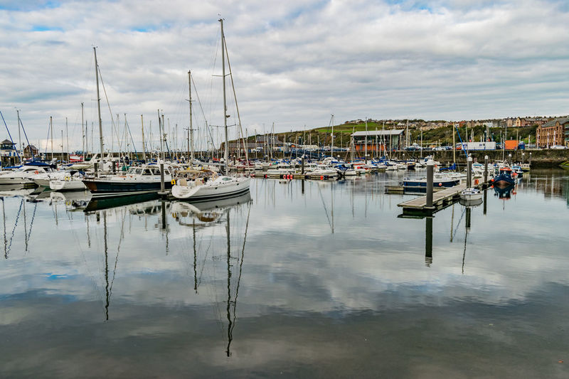 Harbour Reflection Yachts Boats Reflections In The Water Sea And Sky Whitehaven Whitehaven Habour Lost In The Landscape