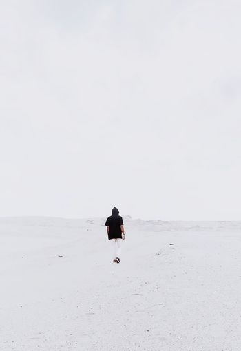 Winter lonely boy