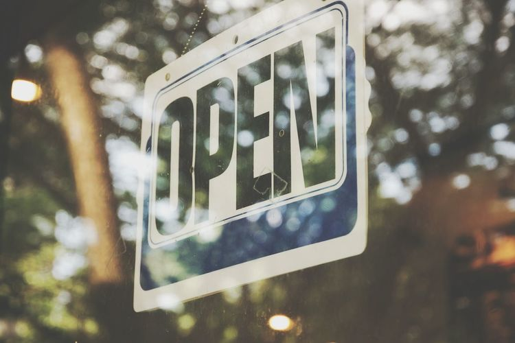 label open in shop. Open Word Label Street Window Outdoors Day No People Building Exterior