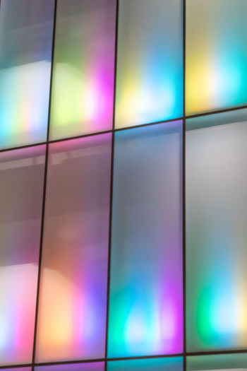 Iridescent architecture - bangkok Multi Colored Technology Abstract Backgrounds Indoors  Arts Culture And Entertainment Full Frame Shape Futuristic Pattern Illuminated Television Set Studio Shot No People Light - Natural Phenomenon Screen Creativity Geometric Shape The Media Light Purple Nightlife