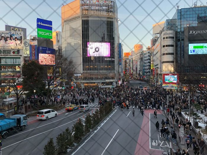 mega city Tokyo,Japan Large Group Of People Crowd City Mobility In Mega Cities