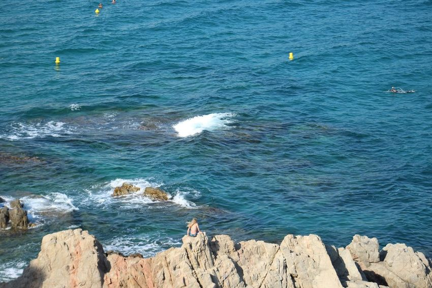 Sea Water Nature Beauty In Nature Outdoors Blue Rock - Object Day Scenics Wave No People Horizon Over Water Costa Brava Lloret De Mar Gironamenamora