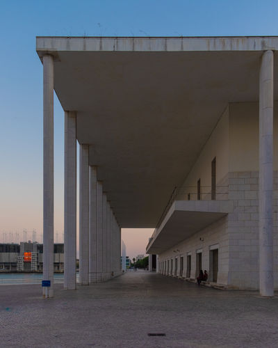 Alvaro Siza EyeEm EyeEm Best Shots EyeEm Selects Architectural Column Architecture Bridge Building Building Exterior Built Structure City Clear Sky Concrete Day Direction Empty In A Row Nature No People Outdoors Road Sky The Way Forward Transportation