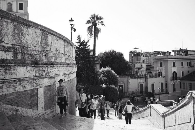 Don't give up, you almost made it! | Vscocam VSCO Monochrome Blackandwhite Streetphotography Spanish Steps FUJIFILM X100S Fuji X100s X100S Roma