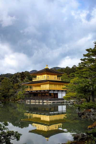 Japan Kinkakuji Temple Cloud - Sky Architecture Sky Built Structure Building Exterior Tree Travel Destinations No People Nature
