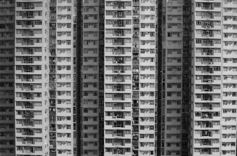 Apartment Architecture Built Structure City Cramped Cramped Living Hong Kong Housing Modern Living Urban Skyline