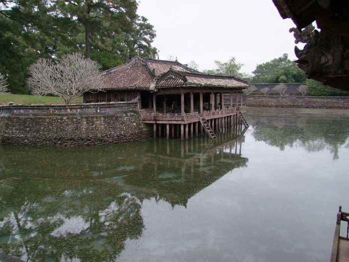 Lake Luu Kiem Pavilion, Tu Duc Tomb Architecture Building Exterior Built Structure Composition Day Full Frame House Huế Lake Nature No People Outdoor Photography Outdoors Pier Pond Reflection Standing Water Tourist Attraction  Tranquility Trees Tu Duc Tomb Vietnam Water Waterfront White Clouds