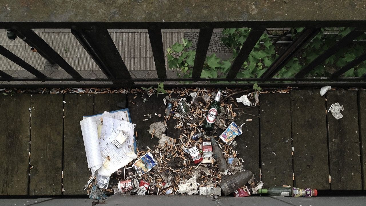 garbage, metal, architecture, paper, built structure, day, aluminum, no people, recycling center, outdoors, waste management