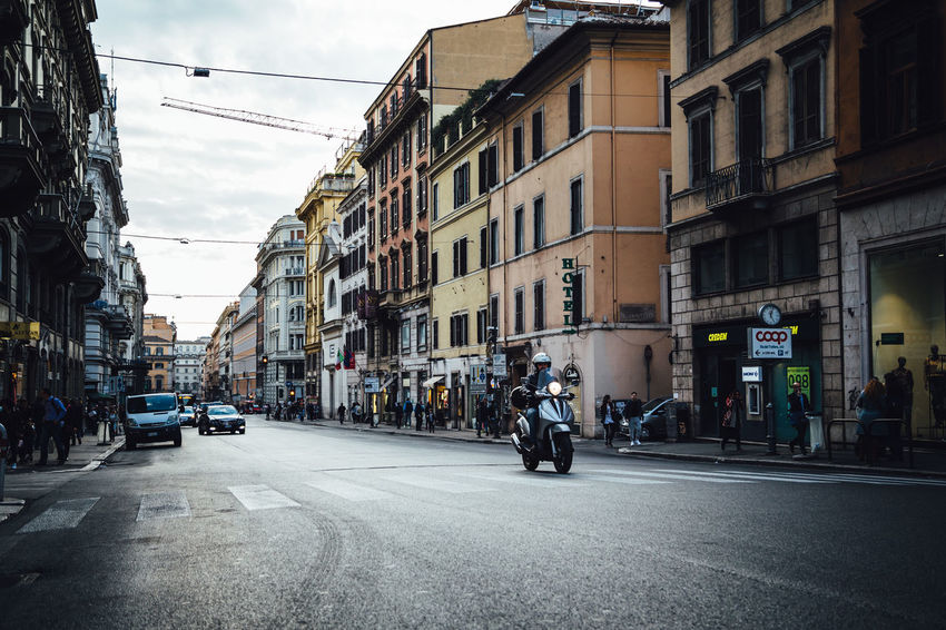 Motorcycle Moving Around Rome Stories From The City Architecture Building Exterior Built Structure City Land Vehicle Mode Of Transport Outdoors Road Street Transportation Urban Life