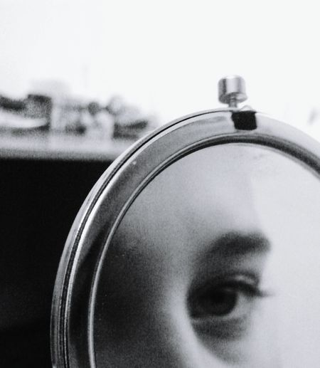 Looking To The Other Side Human Body Part Human Face One Person Eyes Eyeselfie Minimalism Minimalism Photography Black & White Photography Black And White Photography Teengirl Teenager People Lookingthrow Black&white Natural Beauty Beauty Vibes