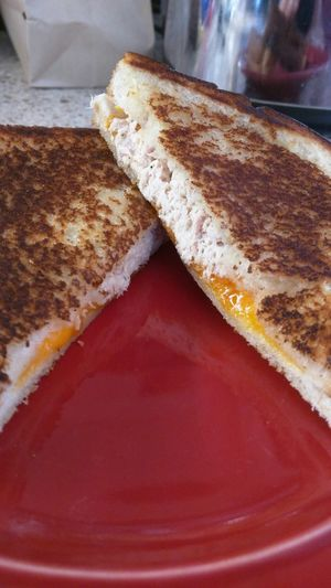 Grilled cheese tuna melt will heal your soul.. Grilledcheese Tunamelts Soulfood Love