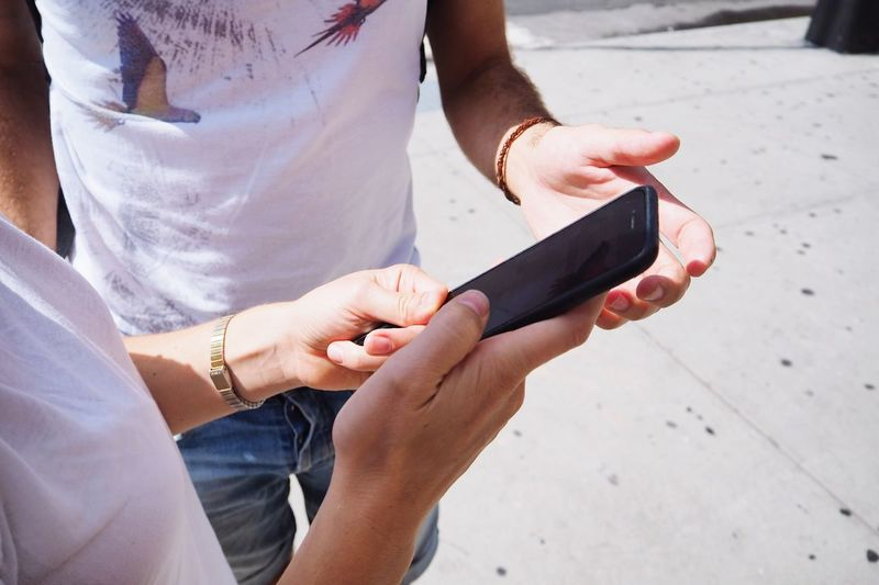 EyeEm Selects Holding Human Hand Communication Mobile Phone Close-up