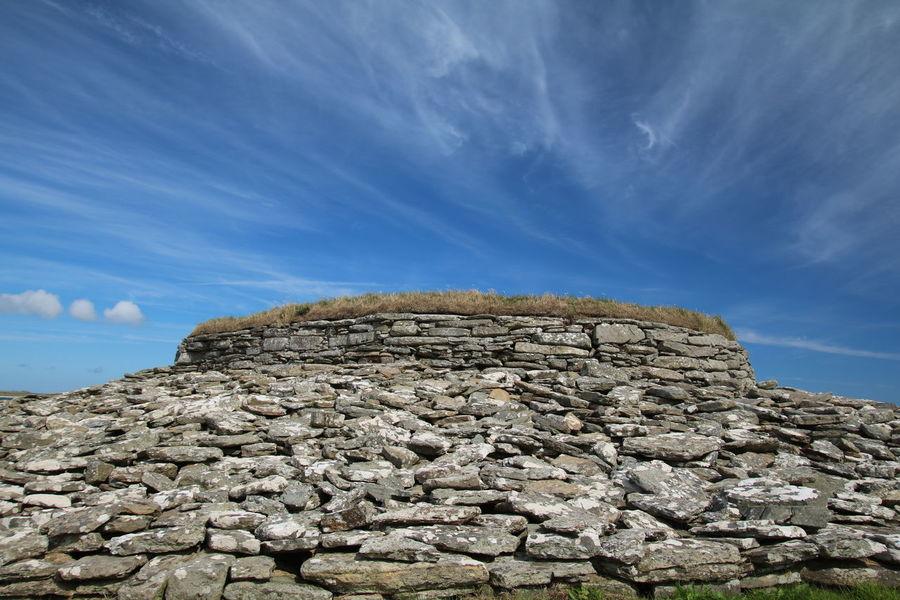 Quoyness Cairn, Sanday, Orkney, Scotland Cairns History Neolithic Orkney Orkney Islands Scotland Sanday EyeEm Selects Blue Sea Rock - Object Sky Landscape Cloud - Sky