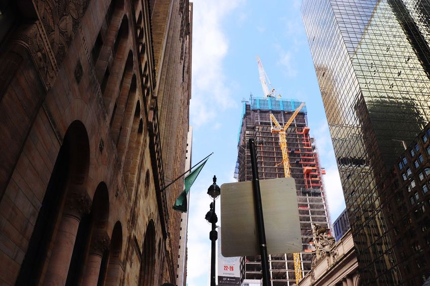 New York Blue Sky New EyeEm Selects Built Structure Building Exterior Architecture Building Sky Belief Place Of Worship Low Angle View Tower City Travel Travel Destinations Nature Day Cloud - Sky Tall - High No People Office Building Exterior
