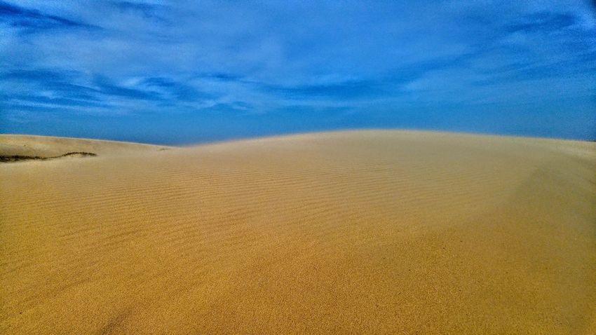 Dunes and sky Blue Sand Sky Nature Tranquility Beach Landscape Backgrounds St Lucia Wetland Park