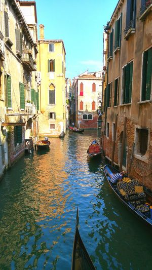 Architecture Building Exterior Water Built Structure City Waterfront Outdoors Travel Destinations Sky Day No People Venice, Italy Canals And Waterways Architecture Venice Canals Europe Trip Romantic Canal Street Daylight