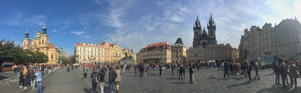 Prague Czech Republic Architecture Building Building Exterior Built Structure City Crowd Group Of People History Large Group Of People Nature Outdoors Real People The Past Tourism Tourist Travel Travel Destinations