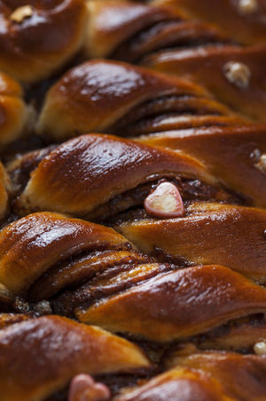 Braided bread close up Brioche Christmas Eastern Europe Bakery Braided Food And Drink Freshness Sweet Food
