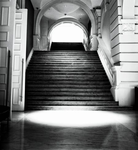 At the steps of the Victoria Concert Hall, Singapore, completed in 1909. Open Edit EyeEm Gallery EyeEm Best Shots Learn & Shoot: After Dark Black & White Black&white Black And White Blackandwhite Noir Noir Et Blanc Noiretblanc Interior Old Buildings Oldandnew Old And New Old And Beautiful Old Architecture Architecture Architecture_bw Architecture_collection Urban Geometry Urbanphotography Showcase March First Eyeem Photo