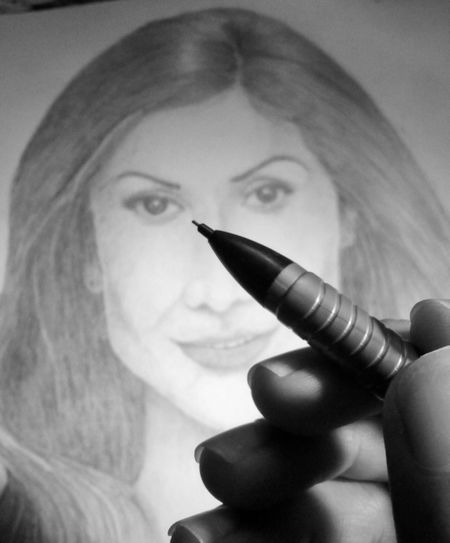 No Person Sketching Inspiration Pencil Point Human Hand Holding Pencils In A Hand