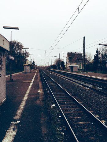 Urban Geometry Urban Monochrome Train Tracks