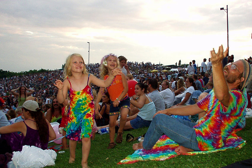 The Grateful Dead Reunited as The Other Ones Alpine Valley Wisconsin Alpine Valley Alpine Valley Wisconsin Concert Concert Photography Enjoyment Family Fun Grateful Dead Happiness Leisure Activity Lifestyles The Audience The Other Ones Tie Dye