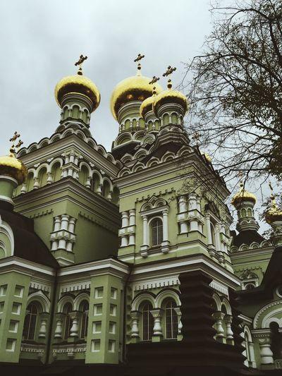 Kiev orthodox church Architecture City Dome EyeEm EyeEm Best Shots EyeEm Nature Lover History Kiev Monastery Religion Religious  Russian Style Sky Travel Destinations Traveling Ukraine