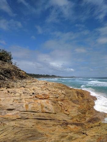 Australia Lookout Nature North Stradbroke Island Ocean View Rock Formation Rock Formations Stradbroke Island Surf Tree Beach Cliff Cliffside Geological Formation Geology Landscape North Stradbroke Ocean Outdoors Sea Sky Stradbroke Straddie Water Waves