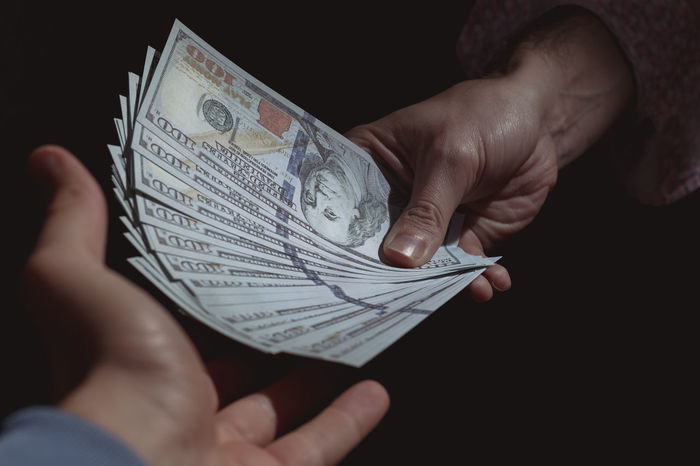 Back Street Black Background Currency Deal Dodgy  Dollars Exchange Finance Holding Human Hand Money Paper Currency People Savings Shady SWAP Wealth