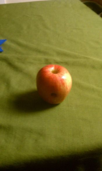 smoking out of an Apple lol