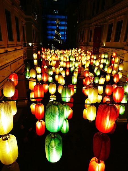 Christmas is coming!! Chinese Lantern Lighting Equipment No People Hanging