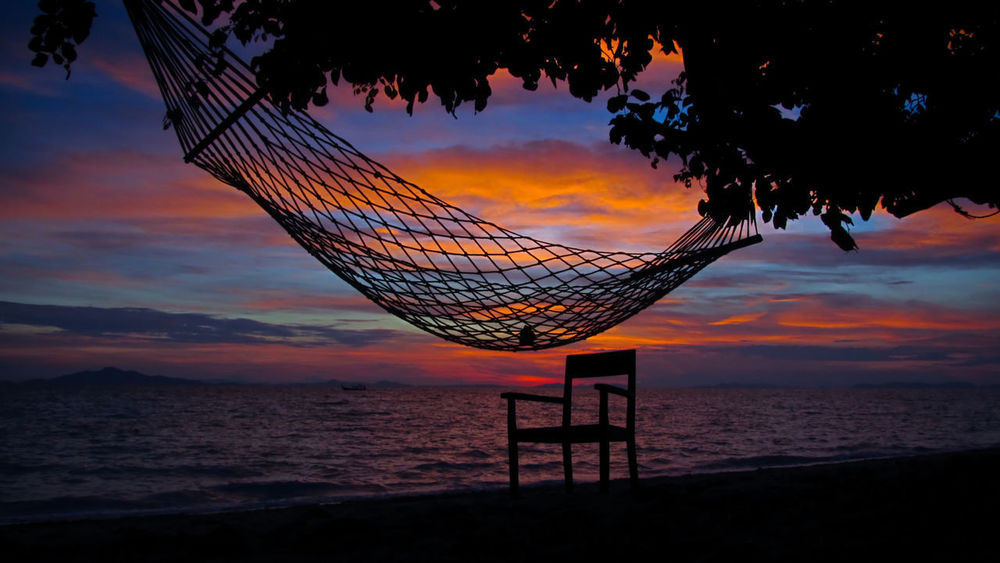 Phi Phi Island, Thailand Beach Beach Volleyball Beauty In Nature Cloud - Sky Day Horizon Over Water Nature Net - Sports Equipment No People Orange Color Outdoors Scenics Sea Silhouette Sky Sport Sunset Tranquil Scene Tranquility Water
