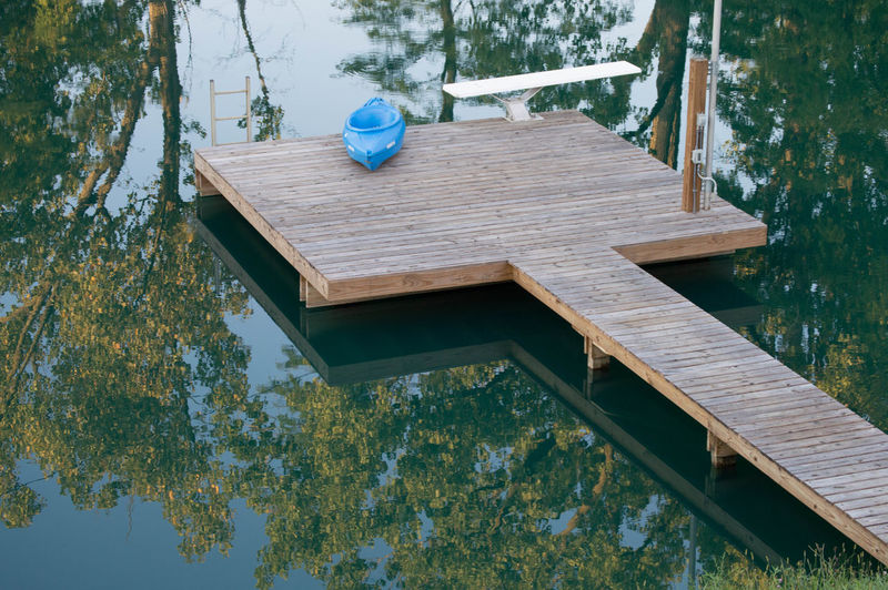 Diving Board High Angle View EyeEmNewHere Calm Fun Ladder Dock Kayak Outdoors Reflections In The Water Summers End Water Wood - Material