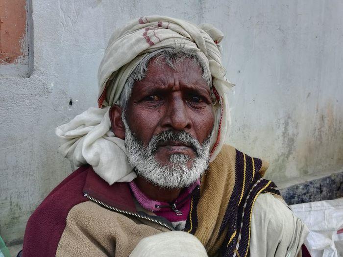 Portrait of man with ice cream
