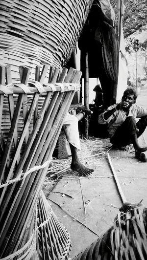 B&w Street Photography Mobilephotography Talks Baskets RuralIndia Monochromelove India_click