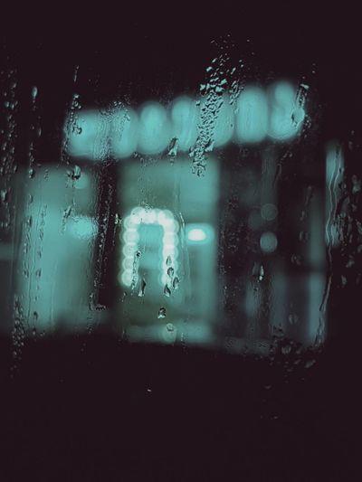 Mobile shot Glass - Material Window Rain RainDrop Looking Through Window