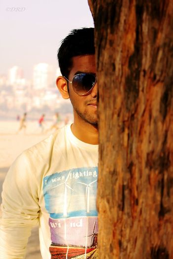 Pic taken at bombey... Model- Pranav Mohite Portrait Bombey Behind Tree Shades With Canon 700D
