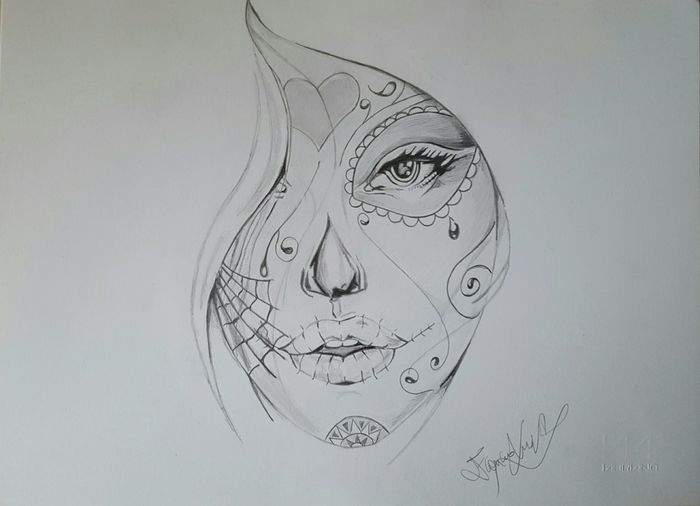 Draw Drawings Artist Pencil Drawing My Drawing Art ArtWork Drawing Sketchbook Sketching Skull Deth Pencil Blackandwhite Italy Artistic ArtInMyLife Sketch Santamuerte Horror Drawing ✏ Relaxing Love Instagram Potrait