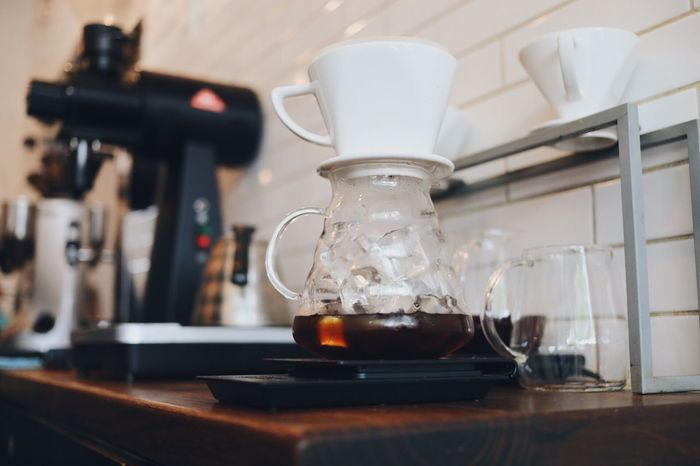Close-up Indoors  Healthcare And Medicine Microscope No People Technology Laboratory Day Coffee Pourover Cafe Coffee Shop Iced Coffee