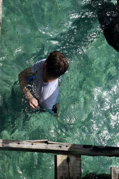 Adult Amazing Thailand Backpacking Child Childhood Children Only Day Education Full Length High Angle View Koh Kood Males  One Boy Only One Person Outdoors People Real People Sea Swimming Swimming Pool Water Miles Away Live For The Story