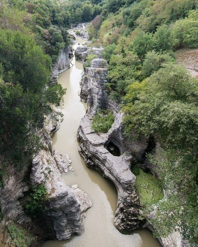 marmitte dei giganti Fossombrone Marmittedeigiganti Tree Nature Day Water Outdoors No People High Angle View River Tranquility Green Color Beauty In Nature Scenics