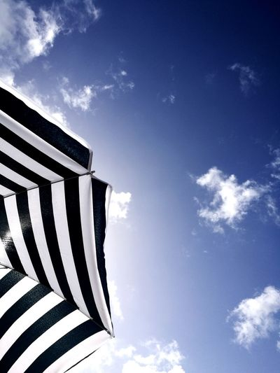 Striped Sky Cloud - Sky Low Angle View Blue No People Day Outdoors Patriotism